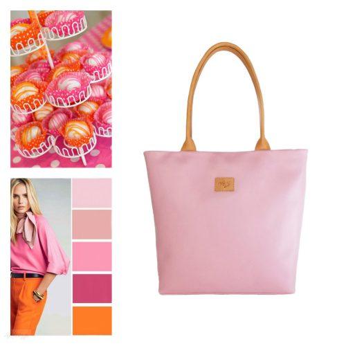 Rosa - bőr Shopper